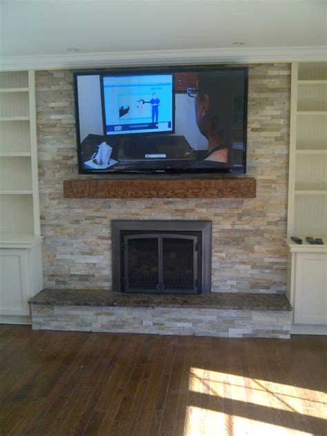 58 quot tv install above fireplace mantel yelp