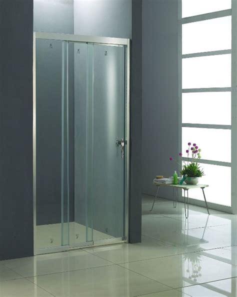 Trackless Sliding Shower Doors The Best Custom Framed Trackless 3 Sliding Bi Fold Shower Door 48 Inch Width Chrome Finish