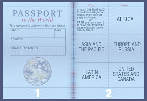 blank american passport template www imgkid com the