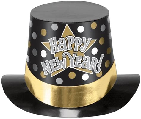 how to make new year hats happy new year hat black silver gold printed bartz s