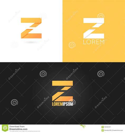 logo design letter z letter z logo design icon set background stock vector