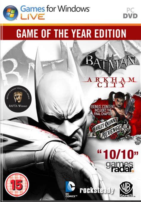Ps4 Batman Arkham Of The Year Edition Goty batman arkham city of the year edition pc zavvi