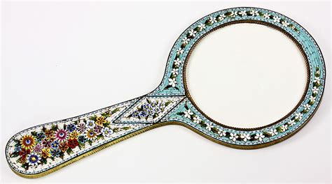 Mirror Mosaic L by Antique 10 Quot Edwardian Grand Tour Micro Mosaic Mirror
