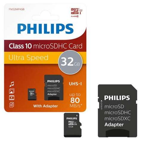 Slot Microsd Card Up To 32gb philips micro sdhc class 10 uhs 1 memory card 32gb 7dayshop