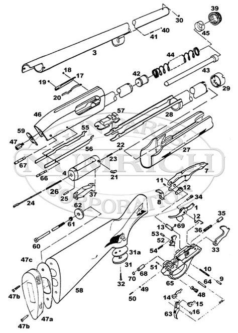 remington 870 diagram parts list schematic numrich
