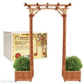 Wooden Arch With Planters by Wooden Arch With Planter Gardening Trees