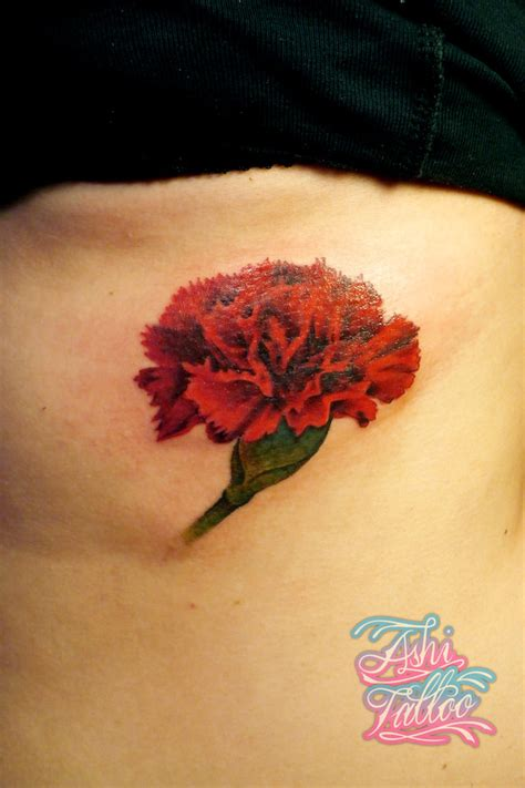 pink carnation tattoo design carnation by ashimonster on deviantart