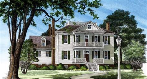 historic plantation house plans colonial plantation house plan 86252 cars house plans