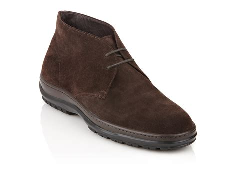 ferragamo chukka boot in brown for chocolate lyst