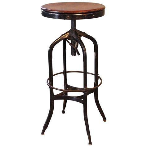 vintage metal base bar stools original vintage industrial toledo backless wood and metal