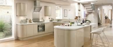 Gloss flint grey integrated handle kitchen range kitchen families
