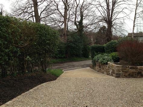 a woodland garden stage 2 construction sloping driveway polley garden design