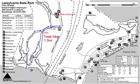 creek state park trail map active dc powell s creek trail leesylvania state park