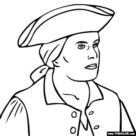 paul revere coloring pages google search colonial