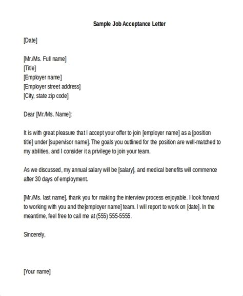 job acceptance letter law firm fast