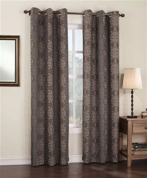 menards curtains s lichtenberg henna grommet top drapery panel 40 quot x 84 quot at