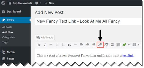 wordpress tutorial hyperlink how to add a link or hyperlink to your wordpress content