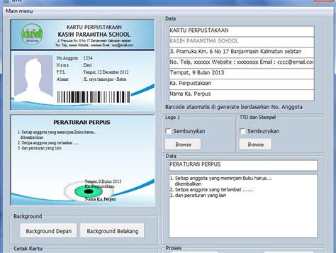bug kartu 3 2017 software perpustakaan sekolah untuk jenjang smp