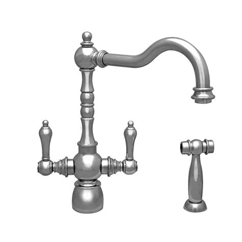 whitehaus kitchen faucets whitehaus collection englishhaus 2 handle standard kitchen
