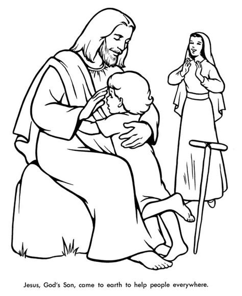 coloring pages of jesus helping others jesushelped10people free colouring pages