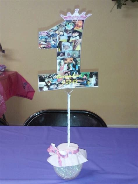 diy 1st birthday centerpiece first birthday party