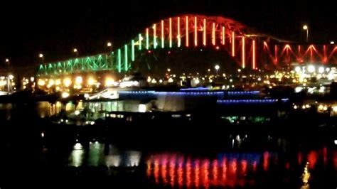 harbor bridge christmas lights youtube