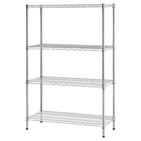 etagere metal 201 tag 232 re 4 tablettes 14 x 36 x 54 po m 233 tal chrome rona