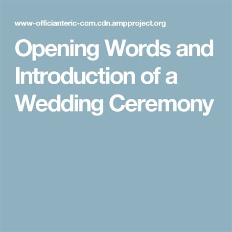 Wedding Ceremony Introduction by Best 25 Wedding Officiant Script Ideas On