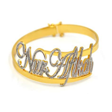 gelang tangan ukir nama emas jelita ej0023 fesyen