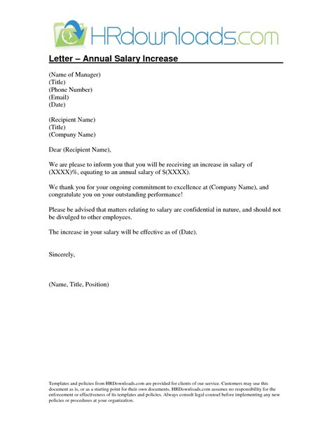 Raise Wage Letter merit increase letter template it resume cover letter sle