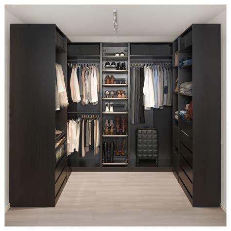 Ikea Pax Black Brown Wardrobe - corner wardrobe pax black brown house ideas pax corner