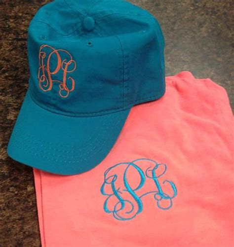 comfort color hats monogrammed comfort color tshirt and hat set by