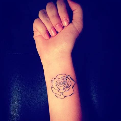 simple rose tattoos my outline simple