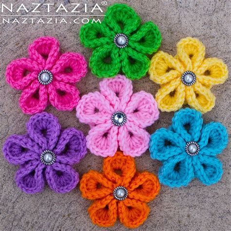 knitted flower pattern youtube diy free pattern and youtube tutorial for crochet kanzashi