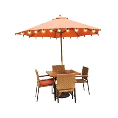 Patio Umbrella With Solar Lights Mainstays Solar Umbrella Lights Walmart