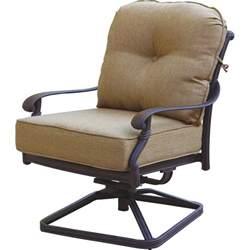 chairs for patio darlee santa monica cast aluminum patio swivel rocker club