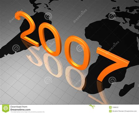 2007 Year Of The New by Happy New Year 2007 Stock Photography Image 1588532