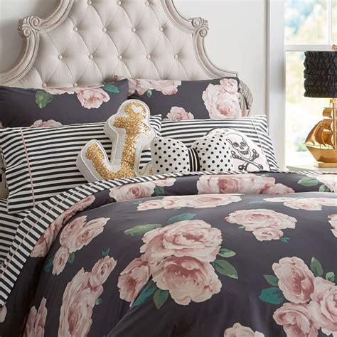 Bed Cover Rumbai Roses Import the emily meritt bed of roses duvet cover sham black blush pbteen