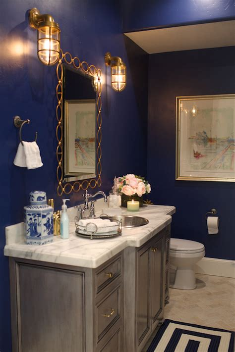 Navy Blue Bathroom Ideas Navy Blue Bathroom Navy Blue Bathroom Paint Blue Bathroom Bathroom Ideas Ideasonthemove