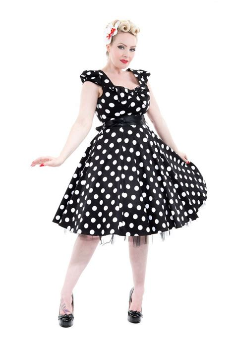 rockabilly swing kleid hearts roses 50er jahre pin up polka dots swing