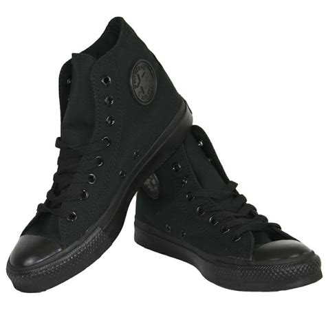 Conversehigh Total Black 17 best images about just converse on tie dye dress world records and chuck taylors