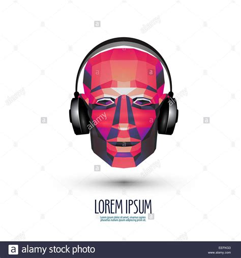 dj vector logo design template music or headphones icon