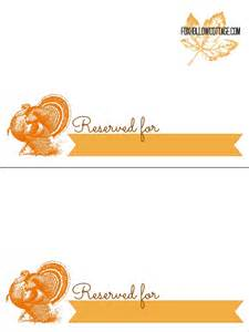 thanksgiving free printable series place card settings fox hollow cottage