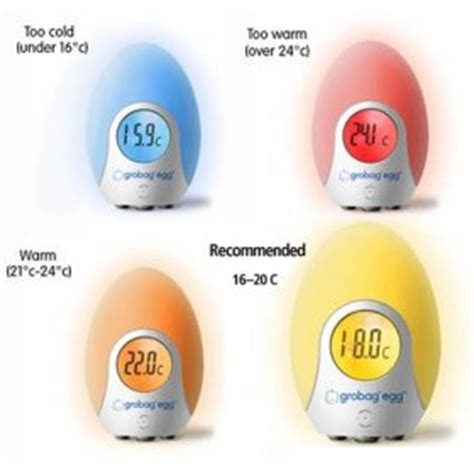 comfortable temperature for newborn gro egg digital room thermometer nightlight 24 99