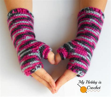 12 free crochet patterns for fingerless gloves the stitchin mommy