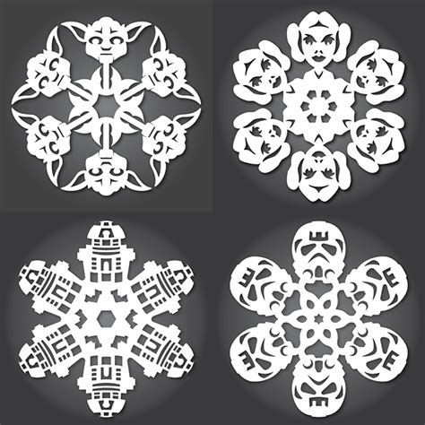 100 snowflake templates