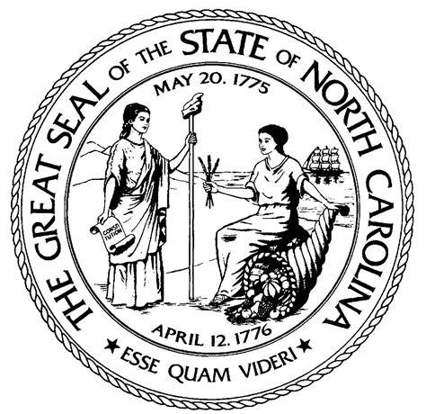 north carolina general assembly nc state seal