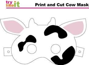 Fil A Cow Mask Template the gallery for gt cow mask template