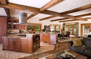 Modern Barn kitchen design ideas sprucing up ceilings with beams