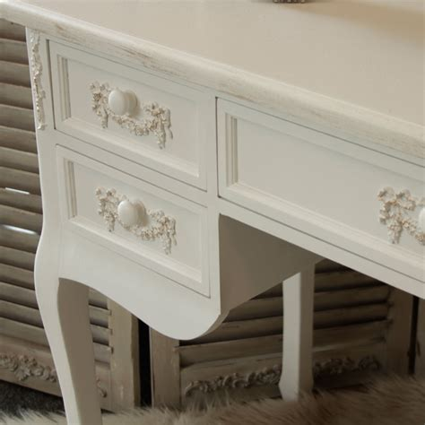 white desk with mirror pays blanc range antique white dressing table desk with